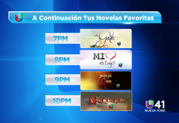 Univision Station Line-up with Sponsorship by McDonald's